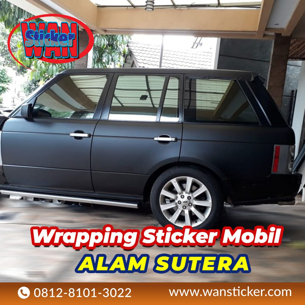 Wrapping Sticker Mobil Alam Sutera
