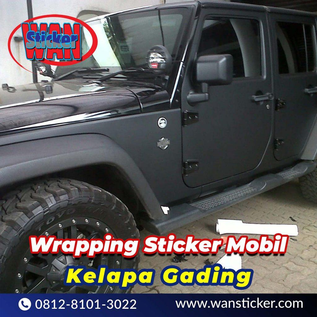 Wrapping Sticker Mobil Kelapa Gading